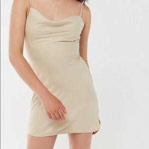 UO Mallory cowel neck slip dress